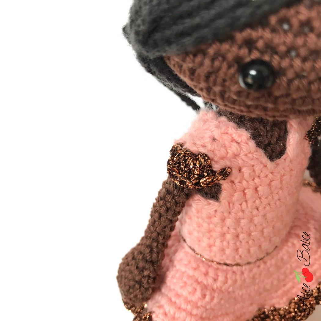 alice balice | tutoriel crochet | poupée danseuse | princesse | pattern | amigurumi | Louison | poupée noire | black doll | tutoriel