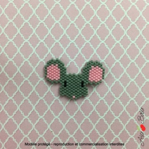 Kit créatif brick stitch «Animignons – Souris»