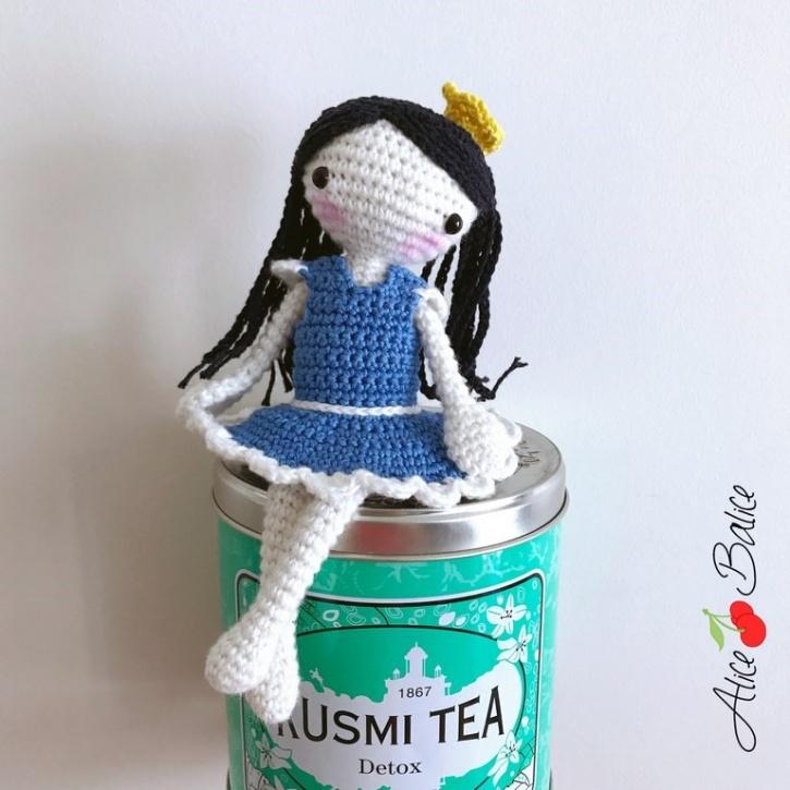 alice balice | poupée en crochet | doll | amigurumi | tutoriel | tutorial | débutantes | Louison | danseuse | ballerine | princesse | couronne