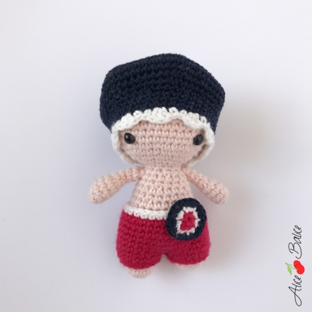 alice balice | tutoriel crochet | poupée | pattern | amigurumi | P'tit Pouce | tutoriel | France | fête nationale