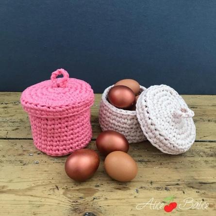 alice balice | crochet | boîte | corbeille | déco | tuto | tutoriel | tutorial | kit créatif | niveau novice débutant