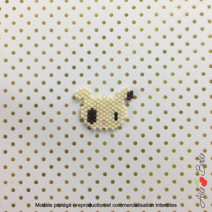 alice balice | atelier créatif | brick stitch | tissage de perles | broche | bijou | chien | tuto | orleans loiret