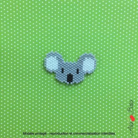 alice balice | atelier créatif | brick stitch | tissage de perles | broche | bijou | koala | tuto | orleans loiret