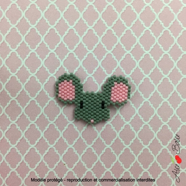 alice balice | kit créatif | brick stitch | tissage de perles | broche | bijou | koala | tuto | orleans loiret | animignon souris