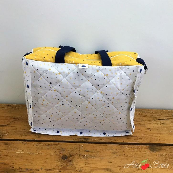 alice balice | tutoriel couture | patron couture | sac à langer | tapis à langer nomade | débutante couture | puériculture | cadeau de naissance