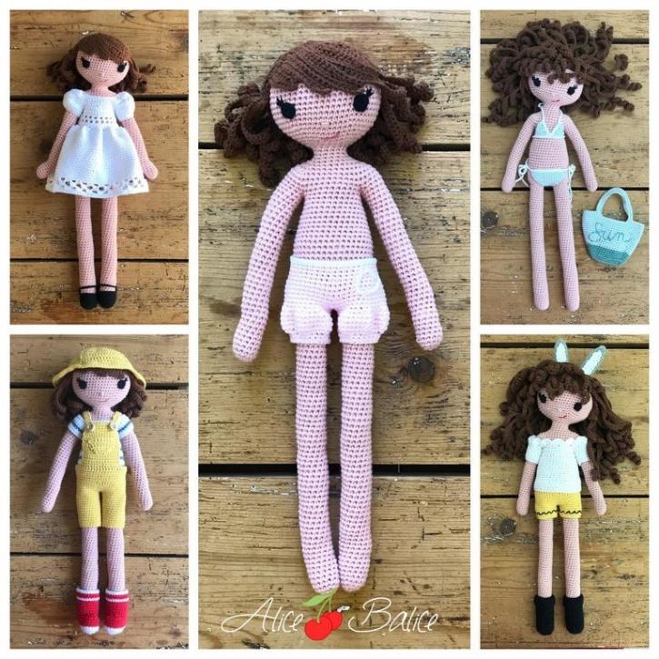 alice balice | poupée en crochet | doll | amigurumi | tutoriel | tutorial | pack