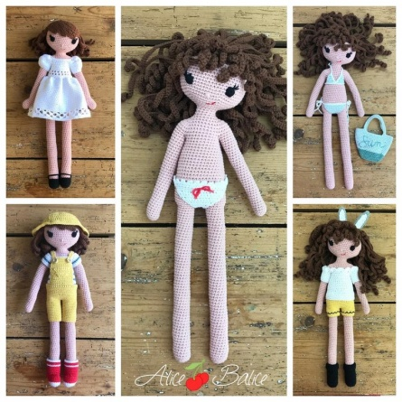 alice balice | poupée en crochet | doll | amigurumi | tutoriel | tutorial | pack