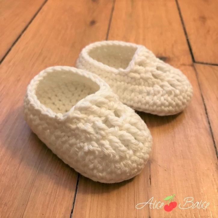 alice balice | chaussons pour bébé en crochet | cadeau de naissance | trousseau de naissance | vêtement enfant | tutoriel | tutorial