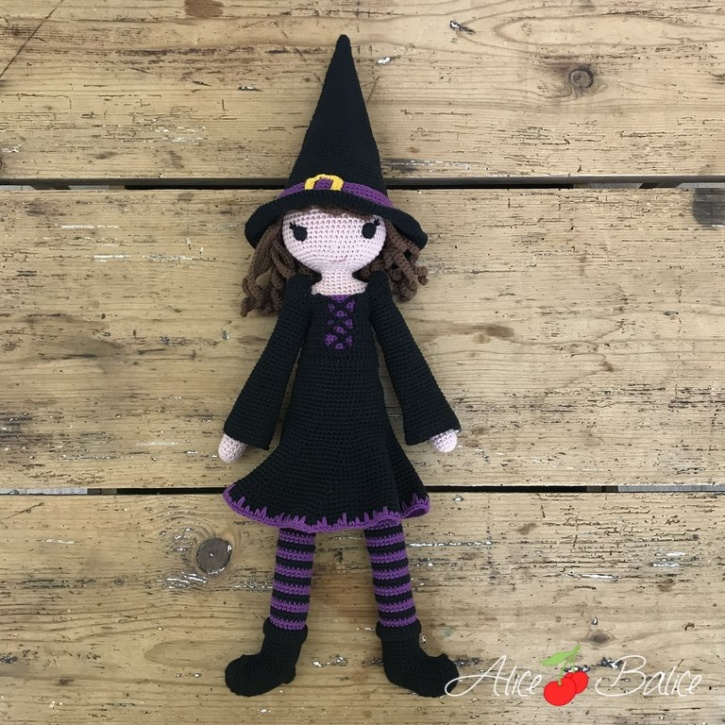 alice balice | poupée en crochet | doll | amigurumi | tutoriel | tutorial | sorcière | witch | halloween | Mélusine | Magie | sorcellerie