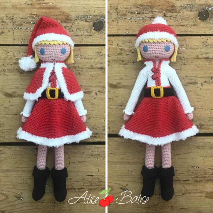 alice balice | poupée en crochet | doll | amigurumi | tutoriel | tutorial | Noël | Magie | Christmas | Mère Noël | Père Noël