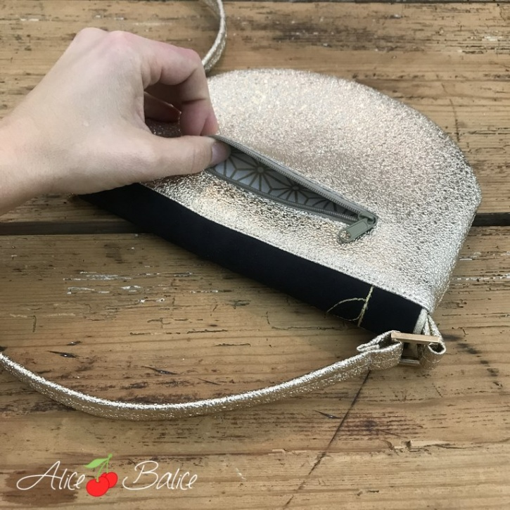 alice balice | tutoriel couture | patron couture | sac à main | pochette de soirée | sac Fantine | chic | décontracté | niveau intermédiaire | saint valentin | réveillon