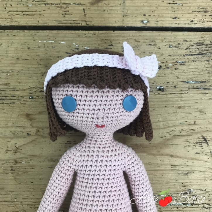alice balice | poupée en crochet | doll | amigurumi | tutoriel | tutorial | clems | coupe au carré | débutantes