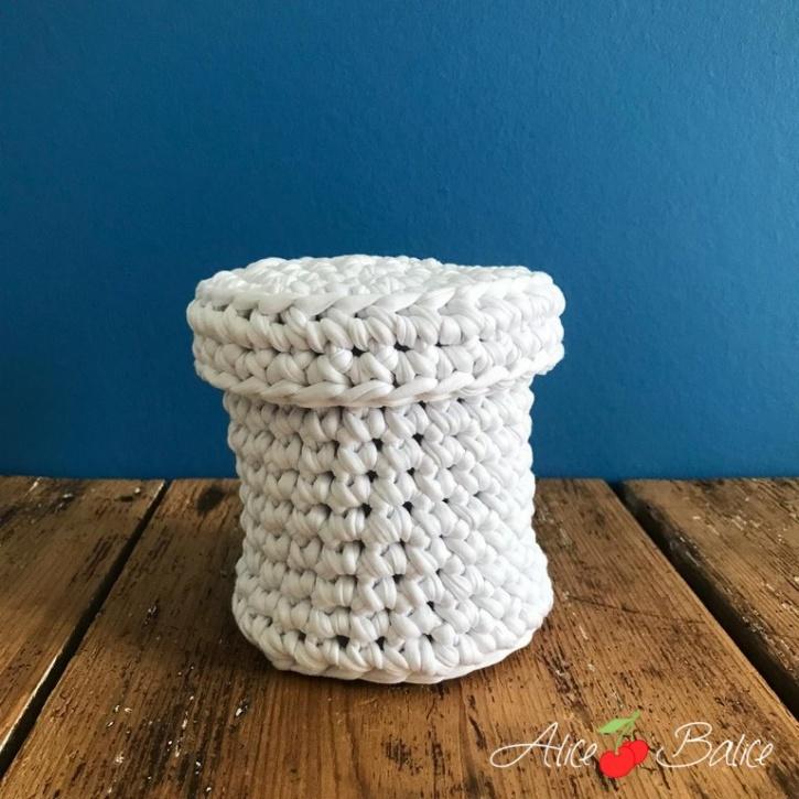 alice balice | crochet | boîte | corbeille | déco | tuto | tutoriel | tutorial | kit créatif | niveau novice débutant | kit pelote trapilho