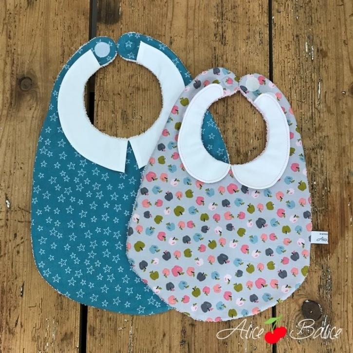 alice balice | tutoriel couture | bébé enfant | bavoir col claudine col chemise | cadeau de naissance | trousseau de naissance | niveau débutant