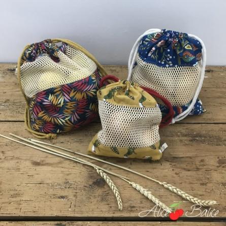 alice balice | kit couture zero dechet | sac à vrac filet | niveau débutant | 3 tailles disponibles